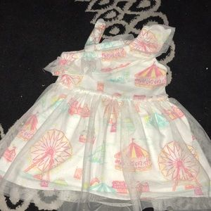 Carousel and tulle toddler dress